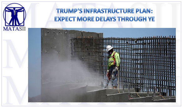 TRUMP'S INFRASTRUCTURE PLAN: EXPECT MORE DELAYS – MATASII