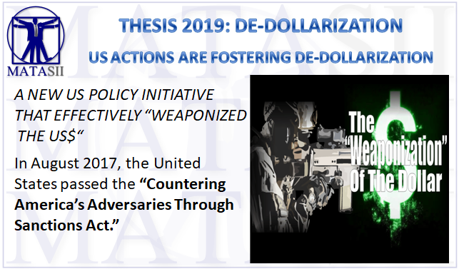 12-28-18-THESIS 2019-DE-DOLLARIZATION-US Actions Are Fostering De-Dollarization-1
