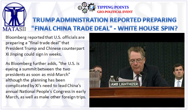 03-02-19-TP-GEO-POLITICAL EVENT-Reports US Is Preparing Final China Trade Deal Draft-1