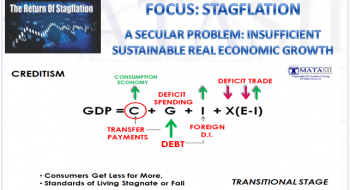 A SECULAR PROBLEM: INSUFFICIENT SUSTAINABLE REAL ECONOMIC GROWTH