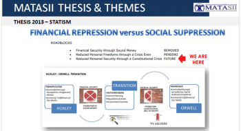 FINANCIAL REPRESSION versus SOCIAL SUPPRESSION