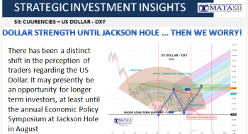 DOLLAR STRENGTH UNTIL JACKSON HOLE … THEN WE WORRY!